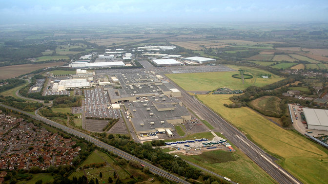 Aerial shot of the Honda factory in Swindon.