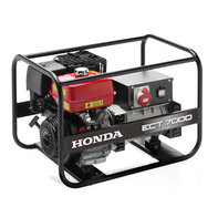 honda professional ect700 open frame power generator - front view.