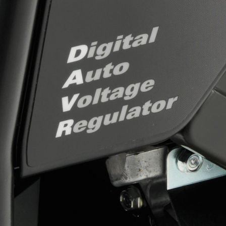 Close up of digital auto voltage regulator.