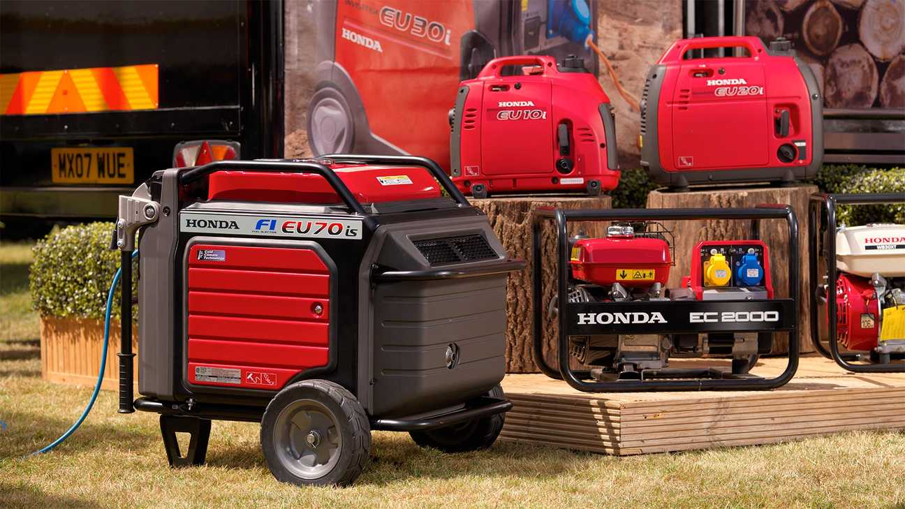 studio shot of honda power generators