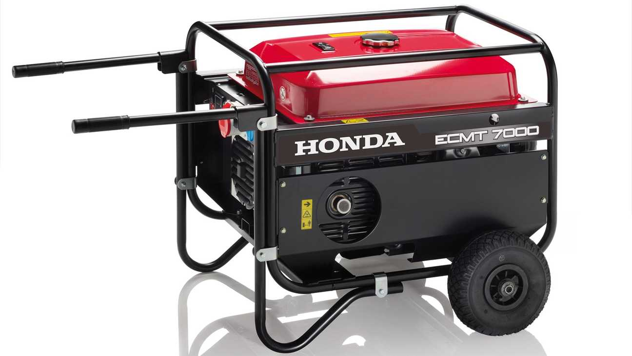 studio shot of honda open frame power generator