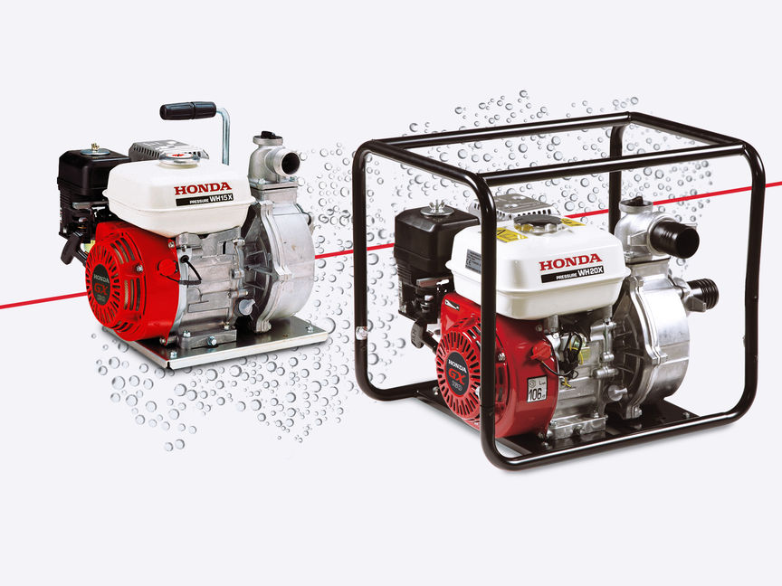 2x Honda high pressure water pumps.