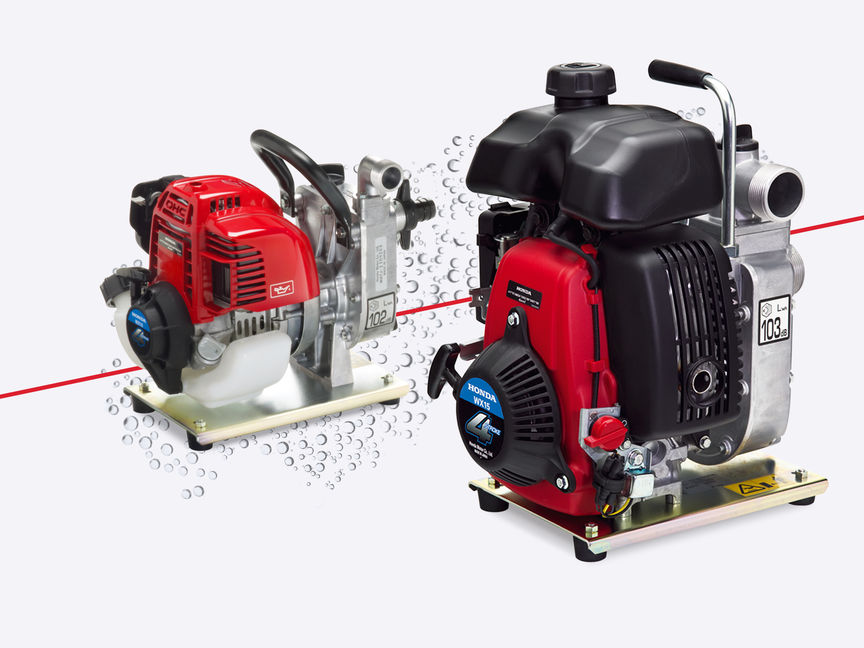 2x Honda lightweight water pumps.