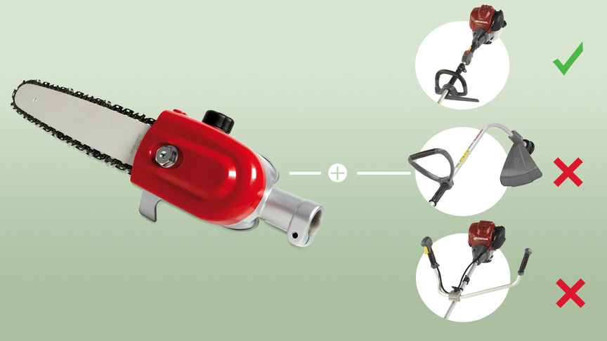Pruning attachment for Brushcutters.