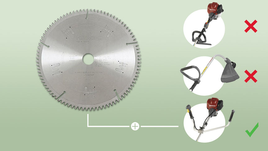 Saw-blade attachment for brushcutters.