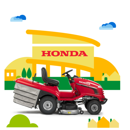 Side view, Ride-on, dealer illustration.
