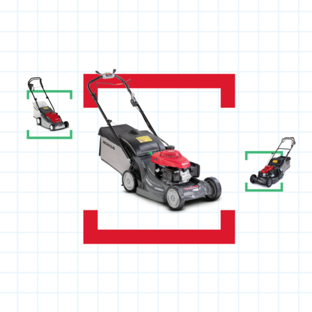 3x lawnmowers with help me choose illustration.