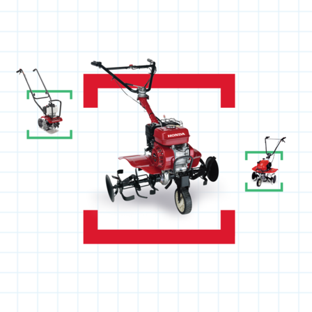 Honda tillers with help me choose illustration.