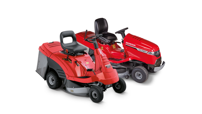 2x side facing ride-on mowers.