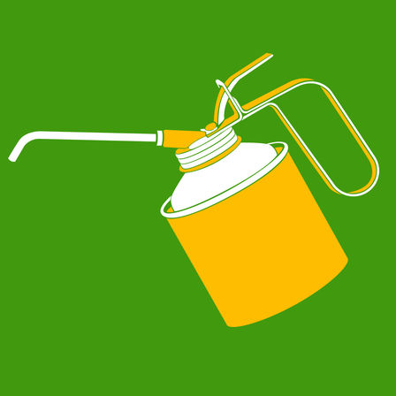 Oil can illustration.