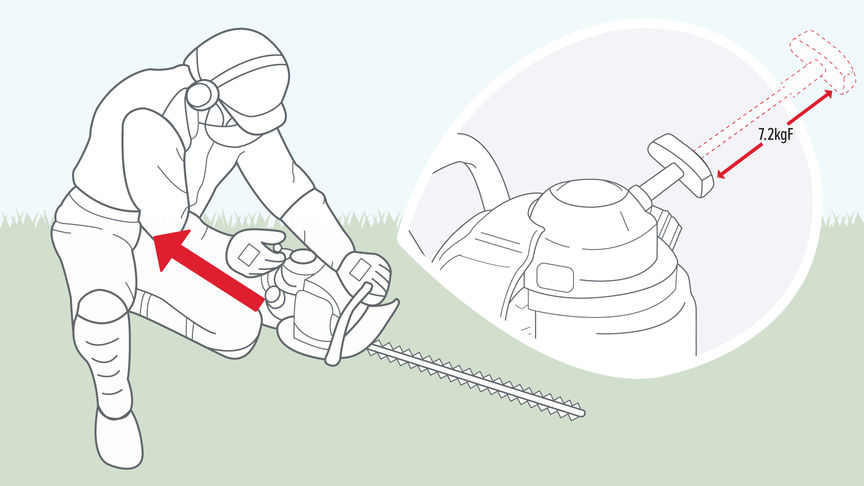 Honda Hedgetrimmers, diagram focusing on the starter rope.