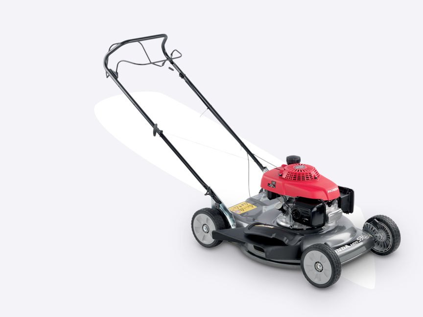 Front 3-quarter right facing HRS lawnmower.