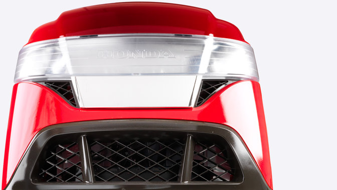 Close-up of headlights