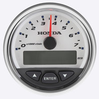 Close up of rev counter.