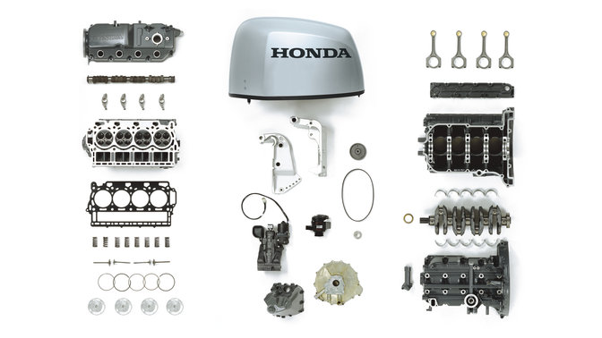A selection of Honda Marine engine parts.