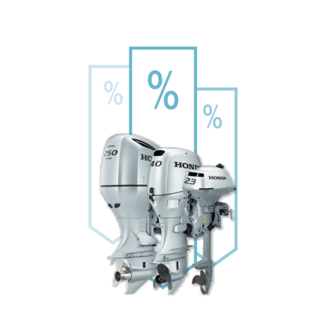 3x Honda Marine engines, offers illustration.