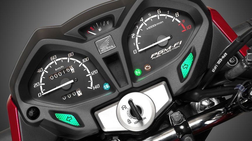 Close up of CB125F instrument panel