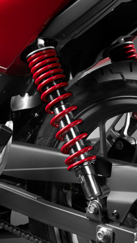 Close up of CB125F telescopic wheel fork