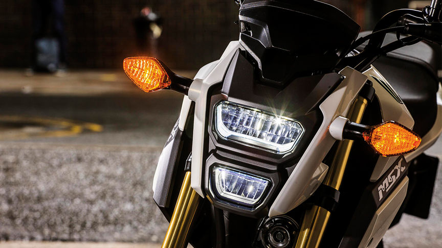 Close up of the Honda MSX125 Headlight
