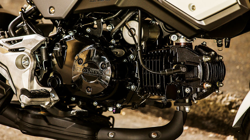 Close up of the Honda MSX125 Engine