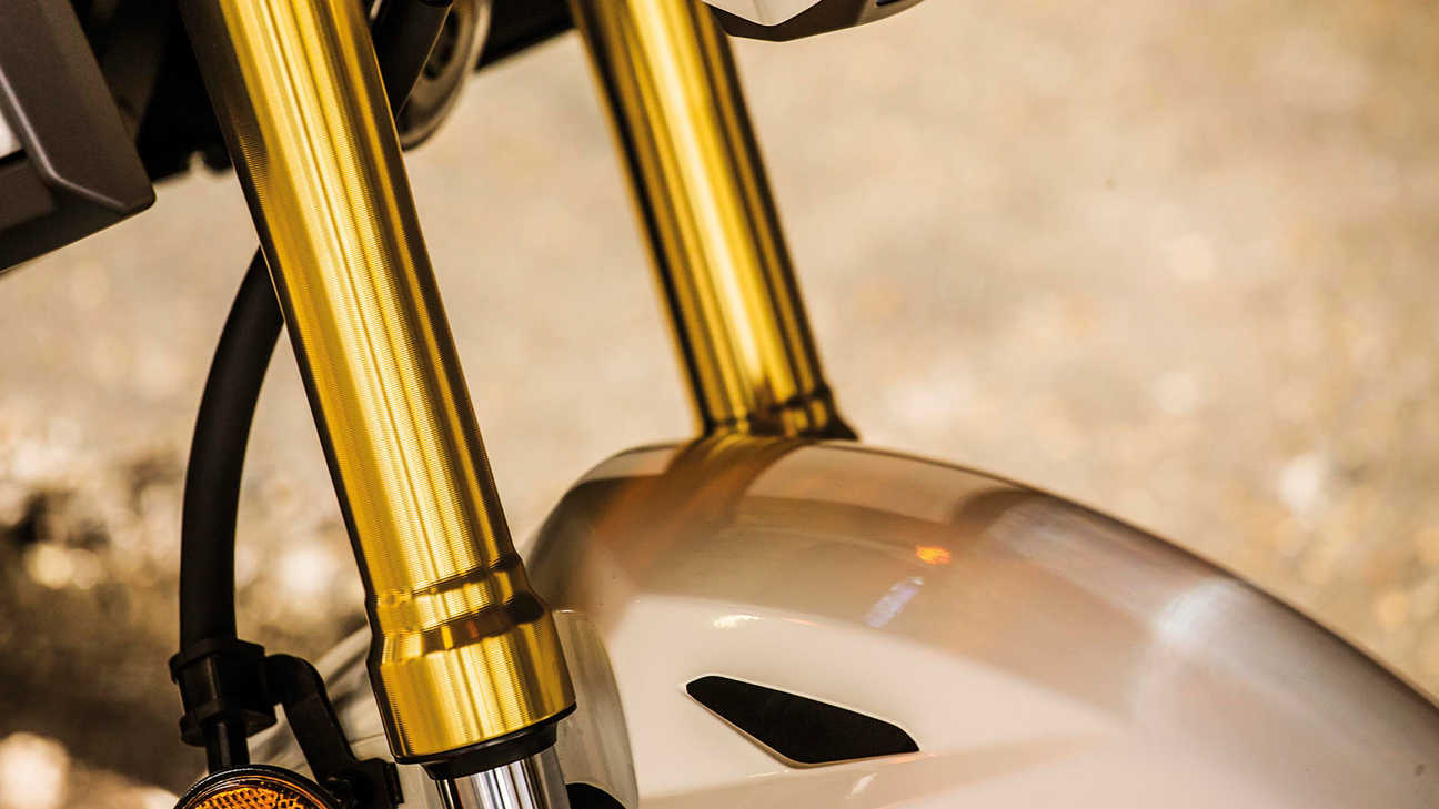 Close up of the Honda MSX125 Front Forks