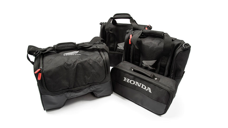 Honda branded top box and pannier inner bags