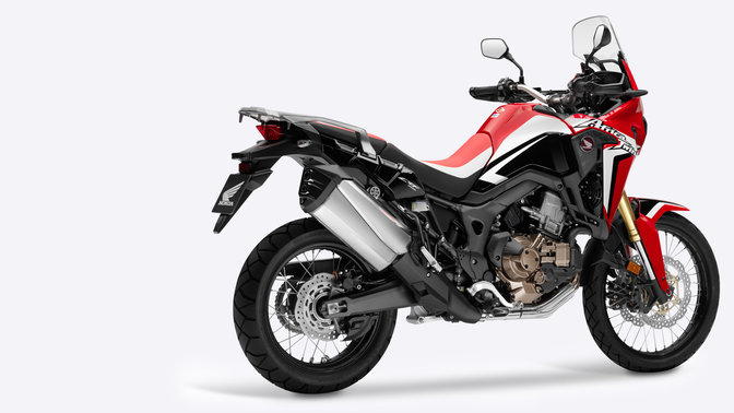 Africa Twin on white background