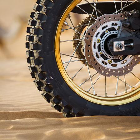 wheel in sand