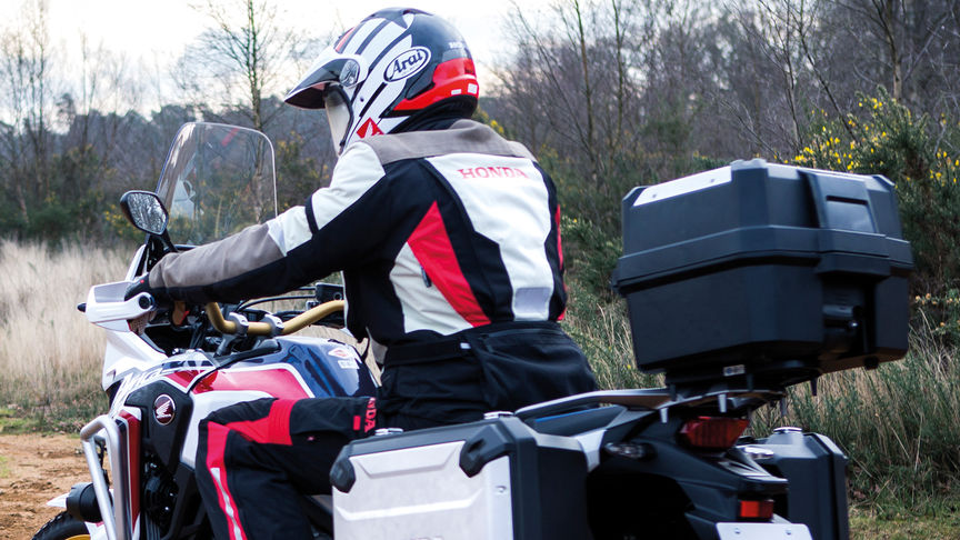 The Honda Africa Twin with a top box