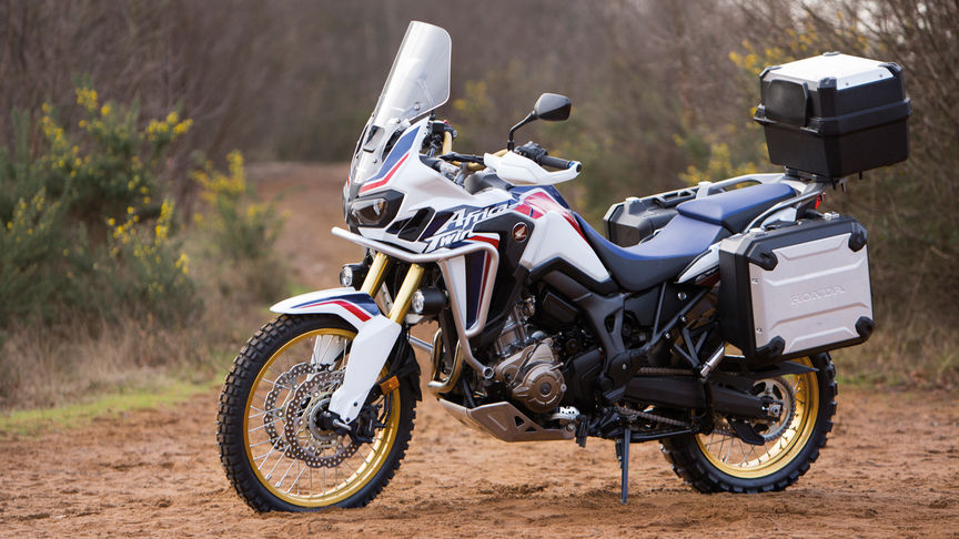 A Honda Africa Twin motorcycle