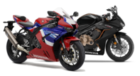 Side shot of Fireblade 2013 and CBR500R.