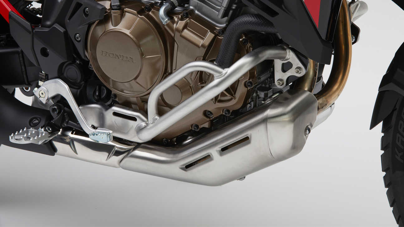 Honda Africa Twin, zoom on side pipe