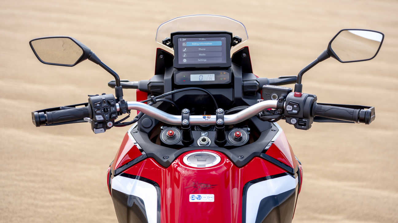 Honda Africa Twin zoom riders view