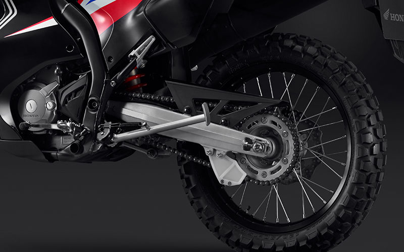 CRF250 Rally zoom on rear suspension