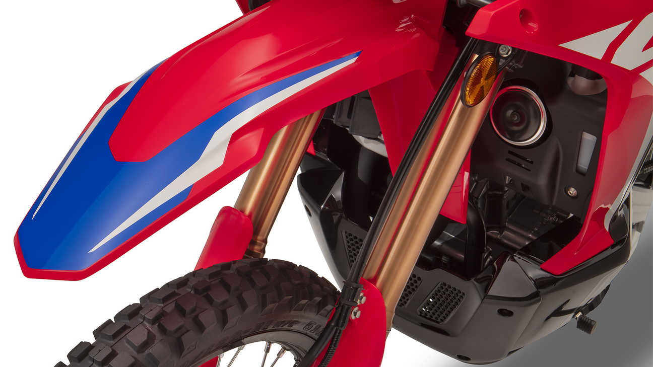 Honda CRF300 Rally Lighter weight, extra ground clearance and high-quality Showa suspension