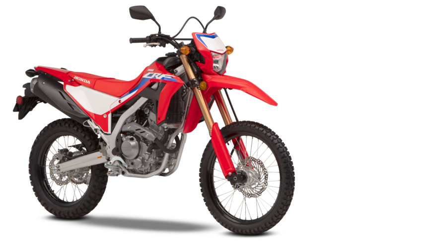 Honda CRF300L with accessories.