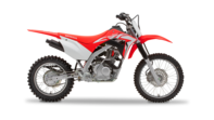 Front-on view of CRF125F.