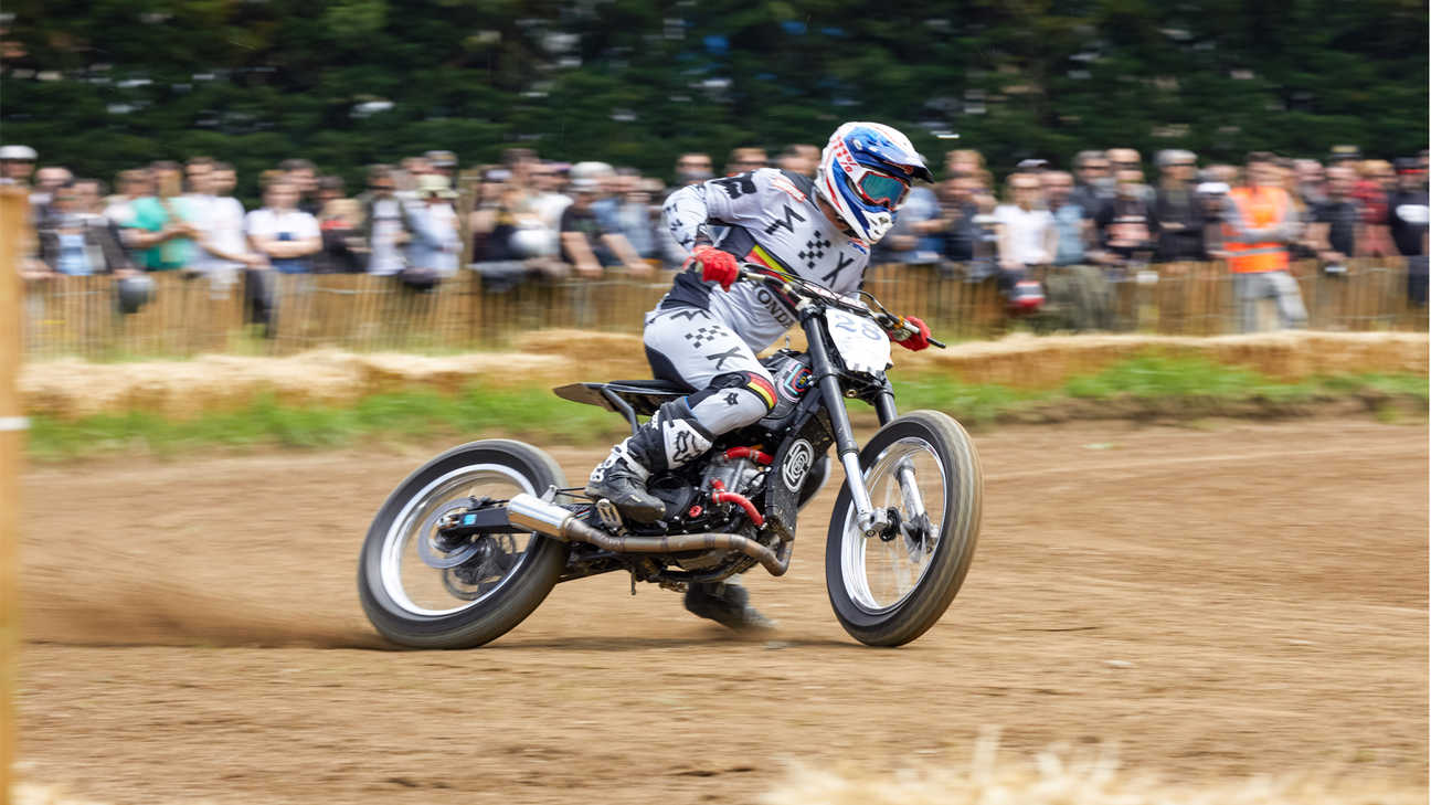 CRF450 Flat Tracker on track.