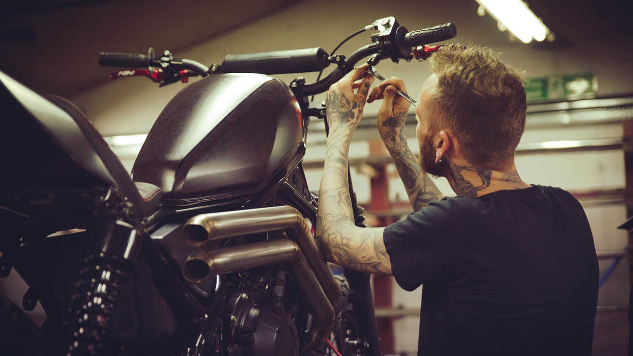 Russ Brown works on the CMX500 Rebel.