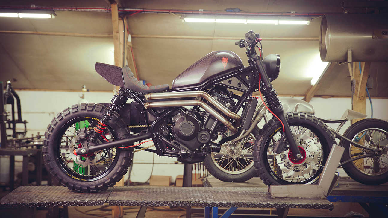 Honda CMX500 Rebel customized by Russ Brown and Dan Gold.