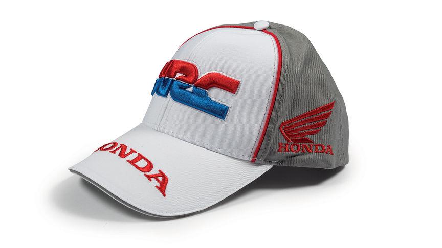 d2f5b79de2b Baseball cap with Honda HRC team coloursand Honda Racing Corporation logo.