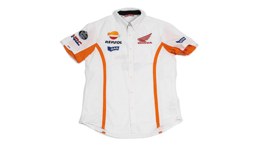 White shirt with Repsol logo