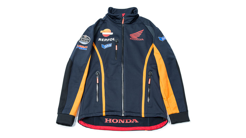 Blue zip sweater with Repsol logo