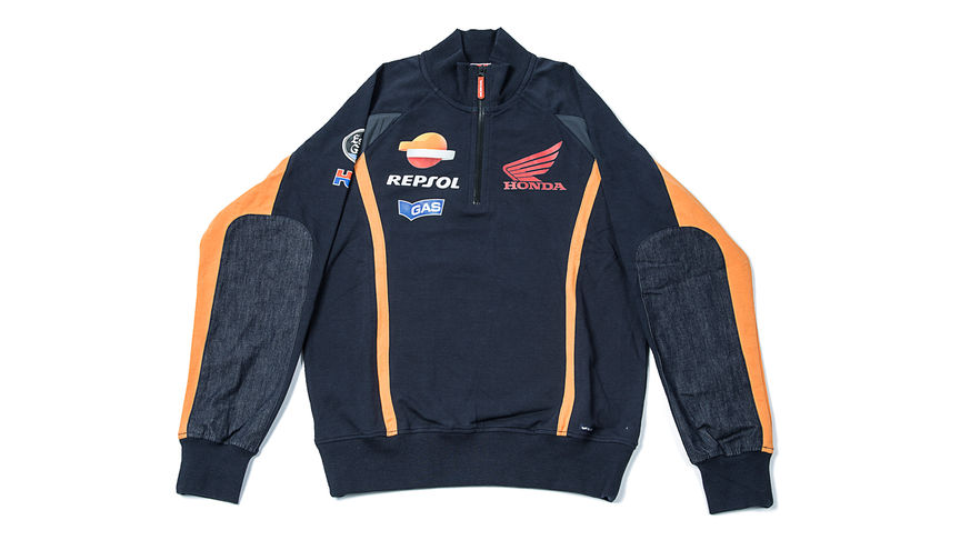 Blue soft jacket with Honda Racing Corporation logo