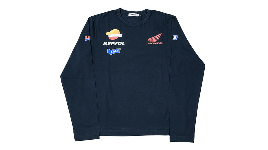 Blue sweater with Repsol logo