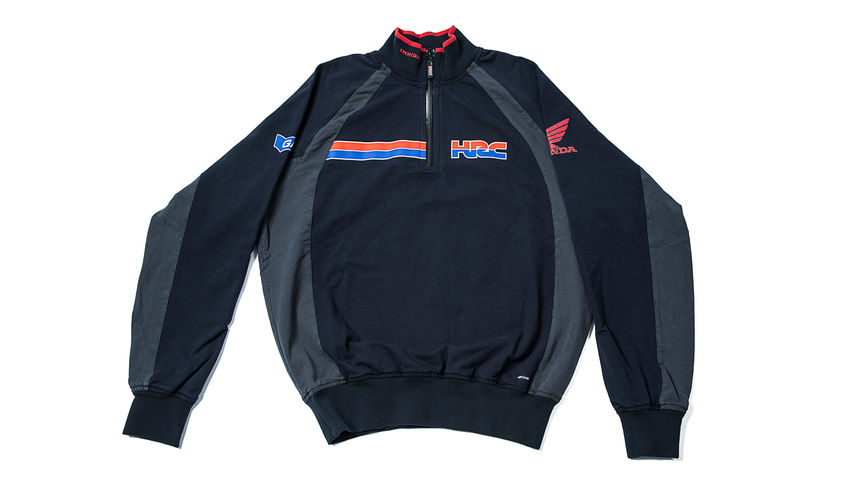 Black and grey jacket with Honda Racing Corporation log
