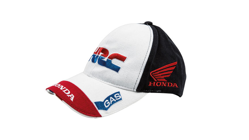 Black and white cap with Honda Racing Company logo