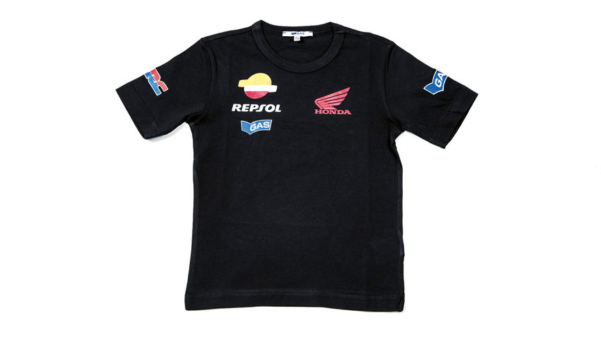 Blue T-shirt with Repsol logo