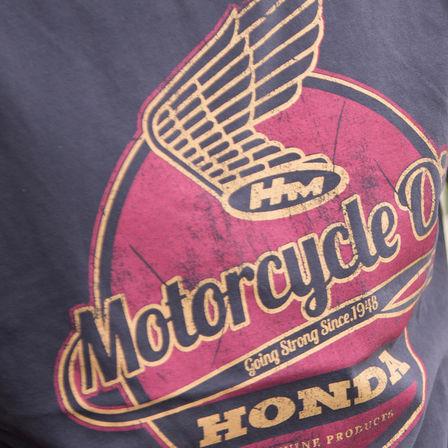 Vintage Clothing Owners Motorcycles Honda Retro Logo