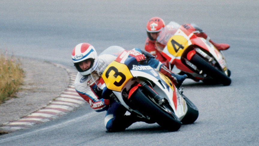 2x MotoGP racers - Freddie Spencer and Kenny Roberts.